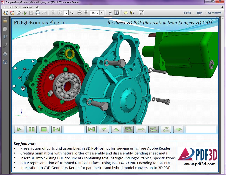 3D PDF KOMPAS plugin