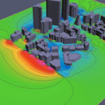 3D PDF Pressure Contours in City