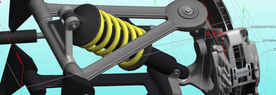3D PDF Suspension with PMI annotations