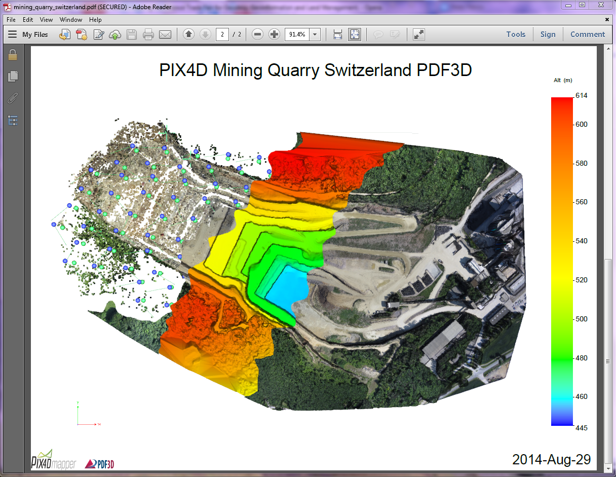 PDF3D and Pix4D Come Together To Offer Geospatial Community