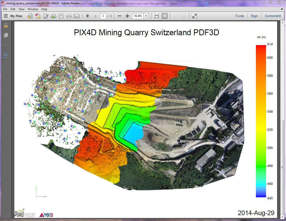3D PDF of Mining Quarry