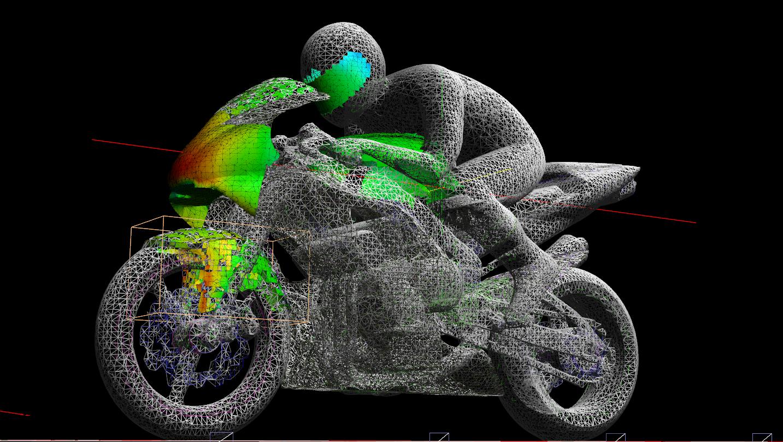 3D PDF Motorbike with rider