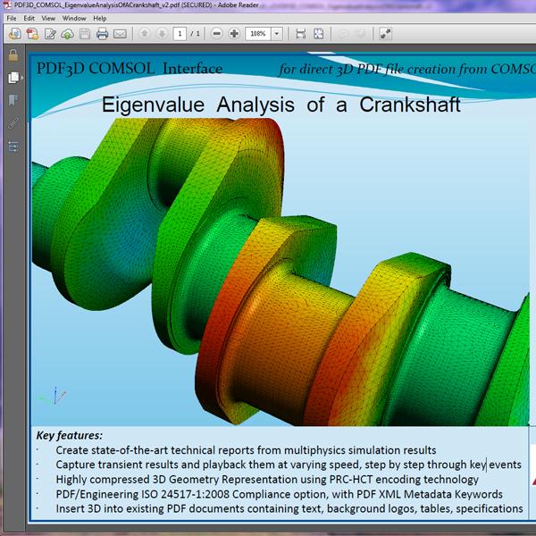 Convert COMSOL to 3D PDF