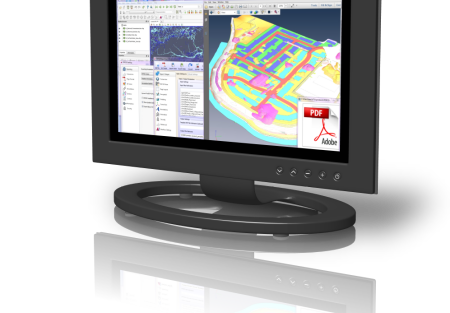 PDF3D Software on screen