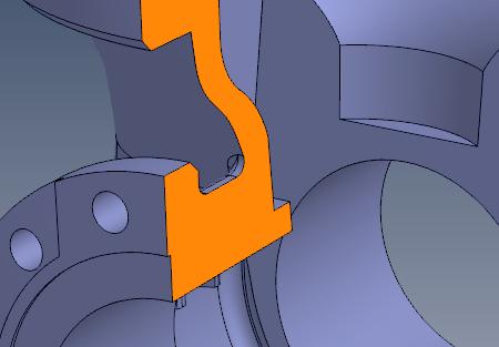 Kompas3D Trimmed Nurbs Valve