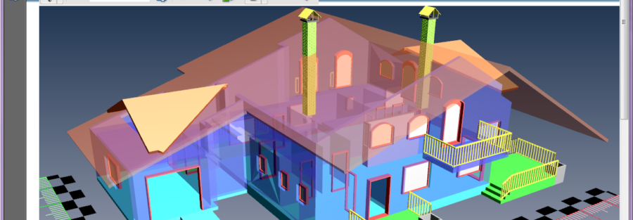 DWG 3D PDF House PDF3D