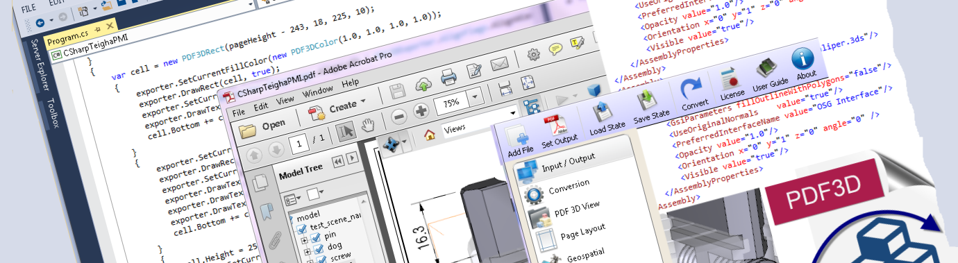 PDF3D SDK XML ReportGen Code
