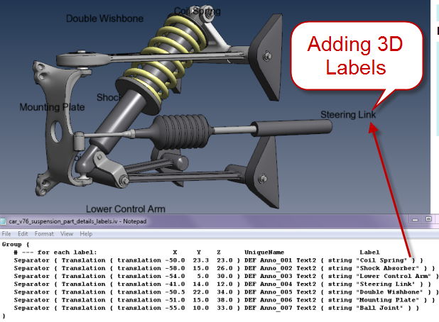 PDF3D Adding 3D Labels