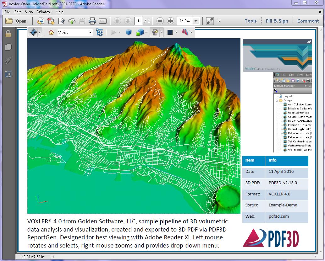 Voxler-Oahu-HeightField-Screenshot