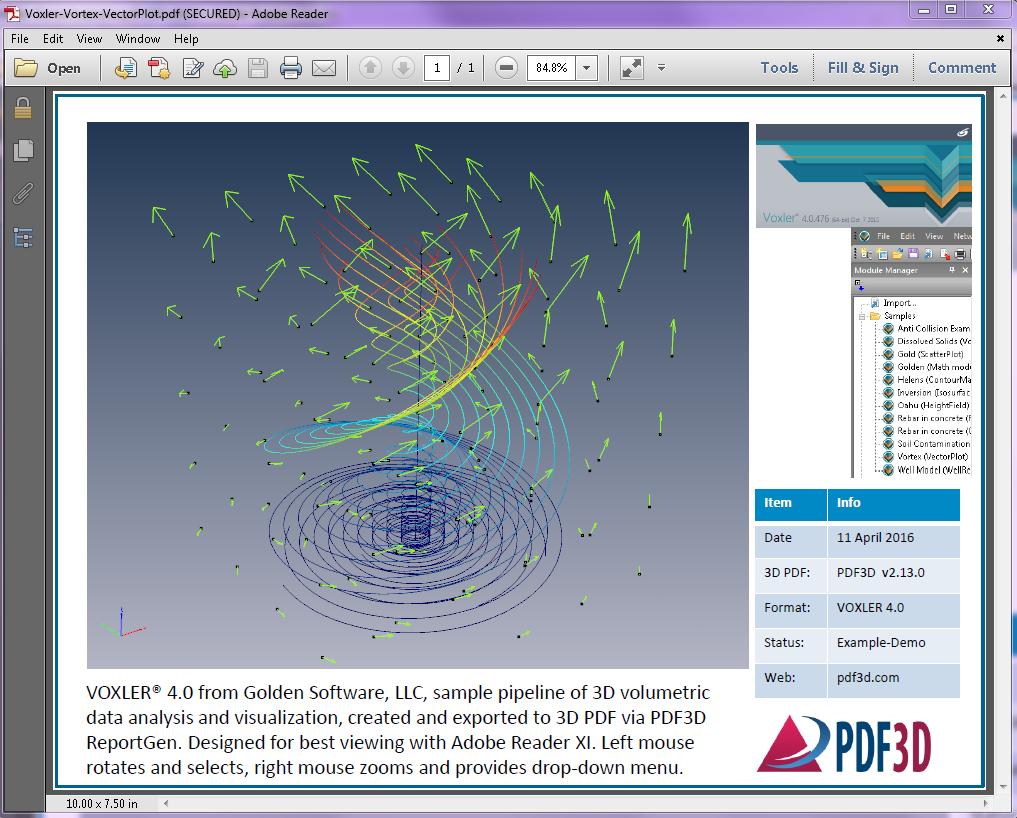 Voxler-Vortex-VectorPlot-Screenshot