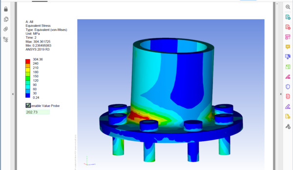 3D-PDF-Example_FEA_Flange_Screenshot