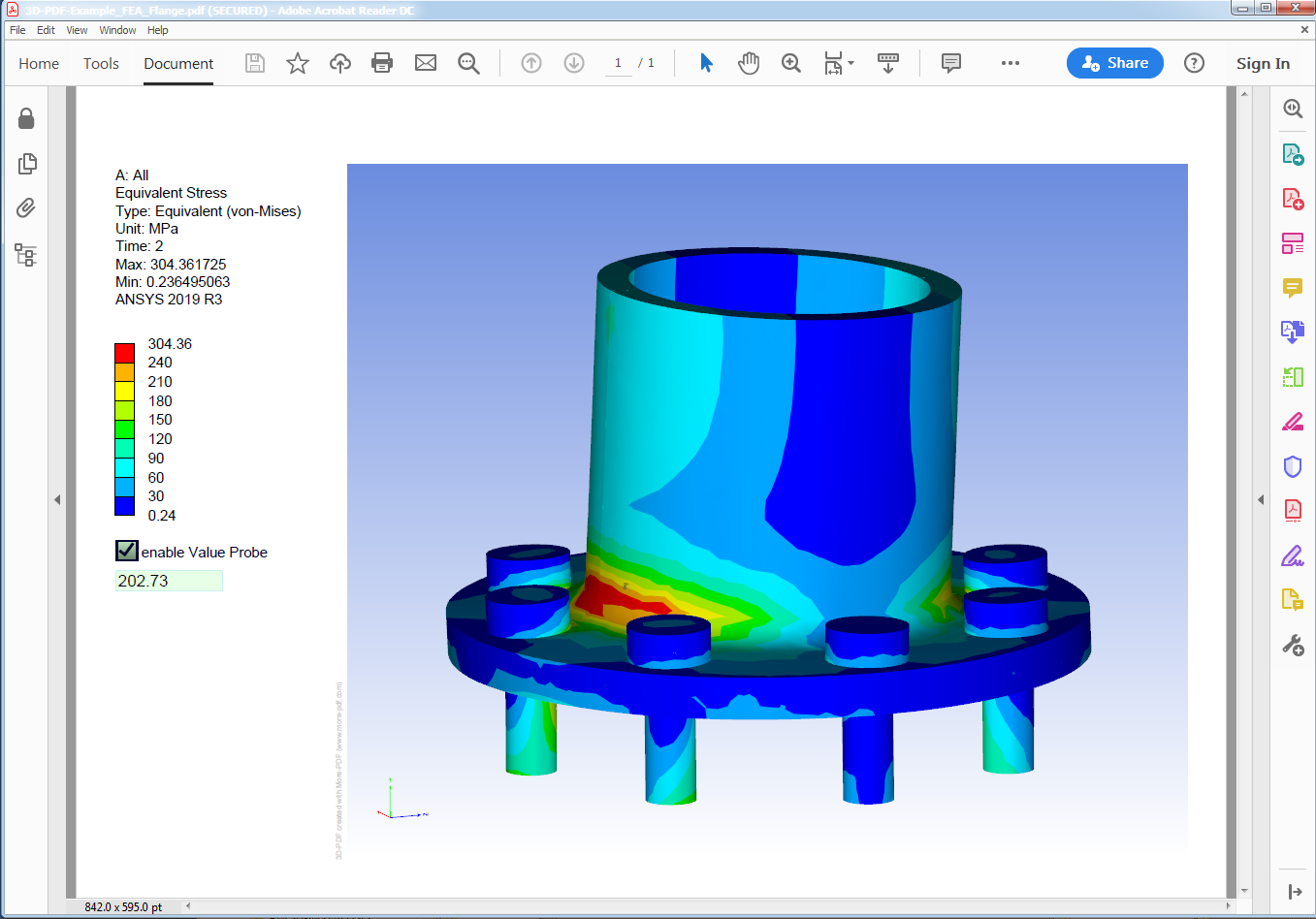 21D PDF Examples of Engineering Analysis, CAE, Simulation Results In Fea Report Template