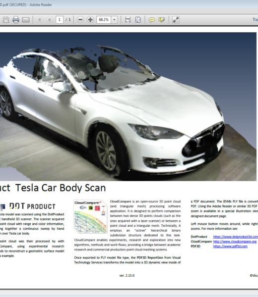 DotProduct-Tesla-CloudCompare-PDF3D