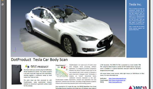 DotProduct-Tesla-CloudCompare-PDF3D