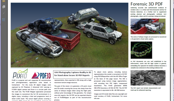 Forensic_Pix4D_AutoPileUp_Demo_PDF3D_Screenshot