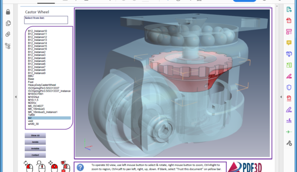 HeavyDutyCasterWheel-Partlist-PDF3D-Screenshot